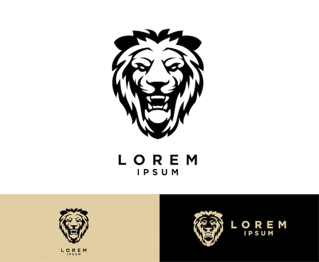 Lion head logo s