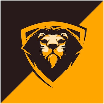 Lion head logo for sport or esport team.