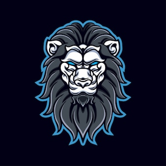 ライオンの頭のマスコットゲームのロゴ