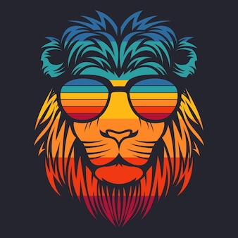 Lion head retro eyeglasses