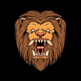 Lion head t shirt illustration premium vector