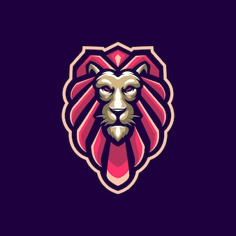 Lion head with vector for logo