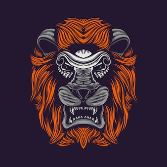 Lion hear artwork