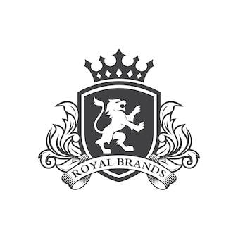 Lion heraldry logo