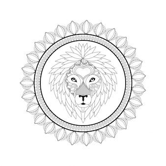 Lion icon. Animal and Ornamental predator
