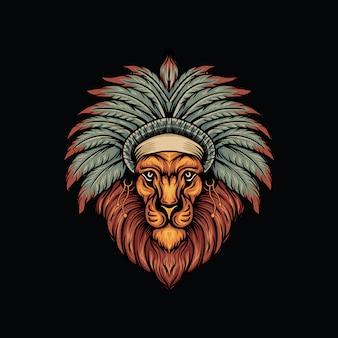 Lion indian logo
