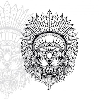 Lion indian vector illustration
