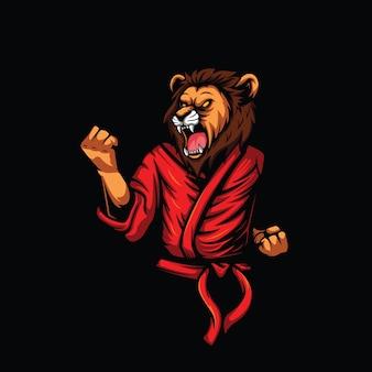 Иллюстрация карате льва