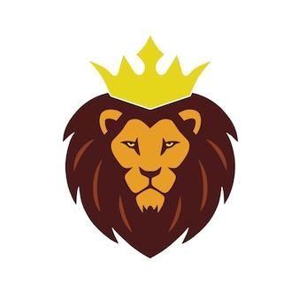 ライオンキングクラウンのロゴのベクトル