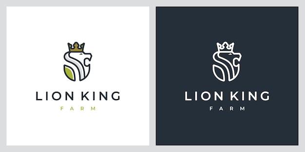 Lion king farm дизайн логотипа вдохновения