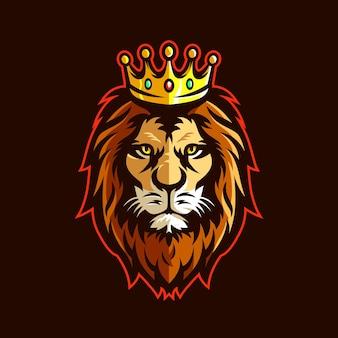 라이온 킹 헤드 마스코트 로고