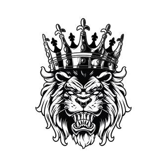 白で隔離されるライオンキング
