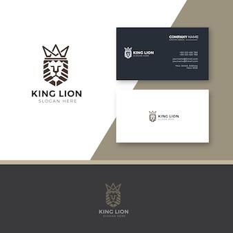 Логотип короля льва и визитная карточка