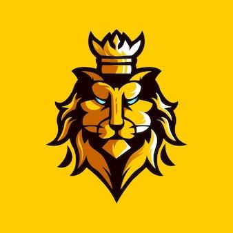 Шаблон дизайна логотипа lion king