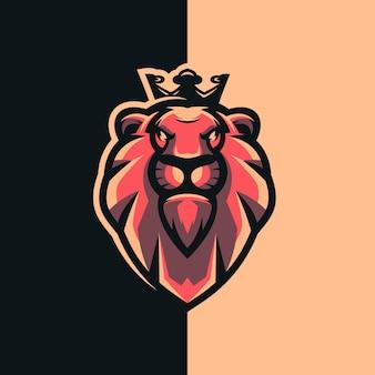Lion king logo design with