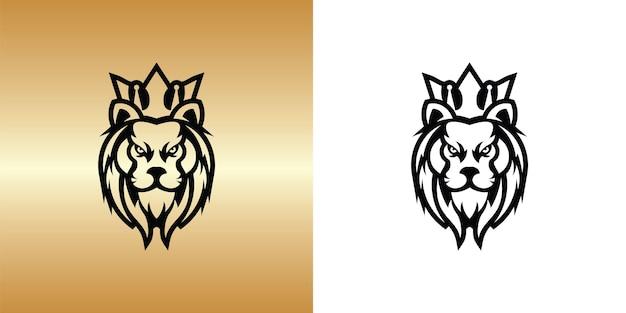 Дизайн логотипа короля льва