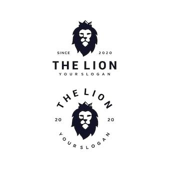 Lion king logo set