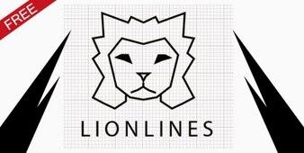 ライオン行ベクトルのロゴテンプレート