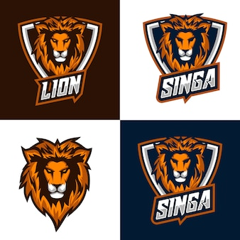 Lion logo and badges