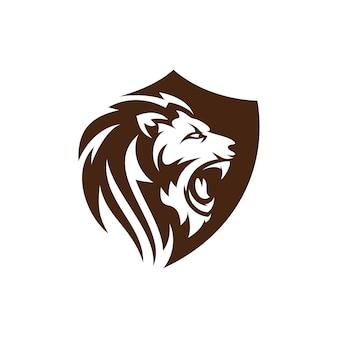 Lion logo design template