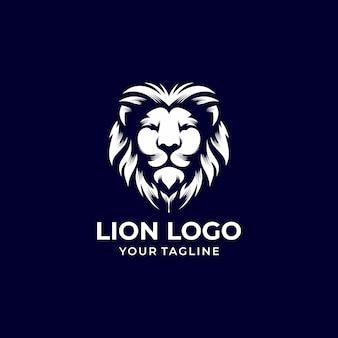 ライオンのロゴデザインベクトルテンプレート