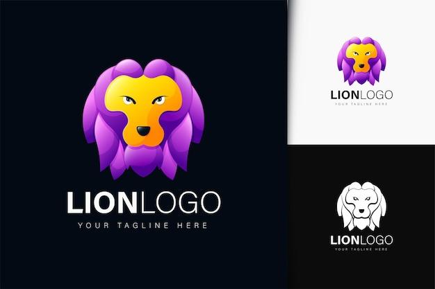Lion logo design with gradient