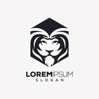 Лев дизайн логотипа