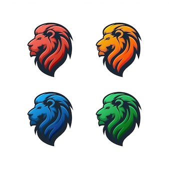 Lion logo illustration