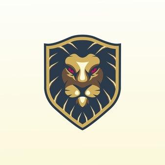 Lion logo, template, illustration