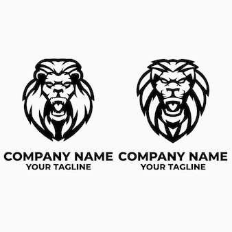 Шаблоны логотипов льва