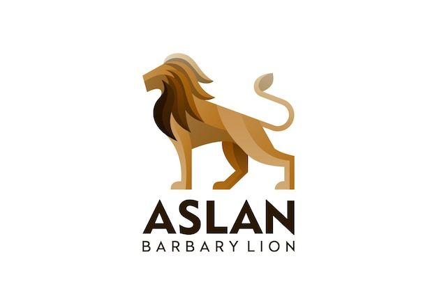 현대적인 스타일의 사자 로고