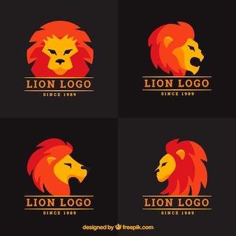 Loghi del leone, colore pieno