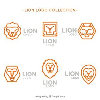 ライオンロゴ、オレンジ色