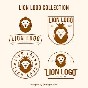 Loghi di leone con composizioni diverse
