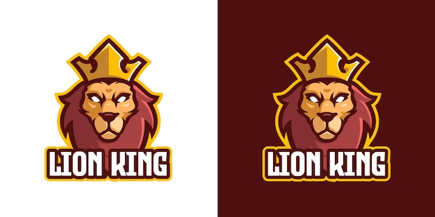 The lion mascot character logo template