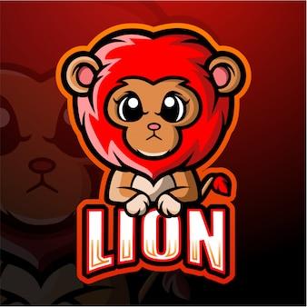 Lion mascot esport illustration