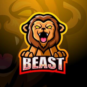 ライオンのマスコットeスポーツイラスト