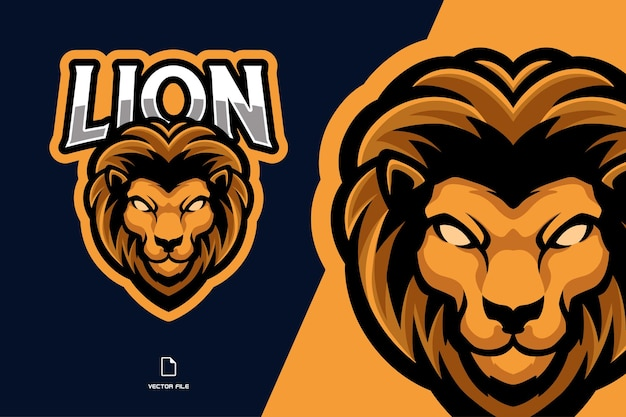 Lion mascot game logo illustration