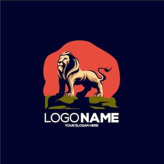 Lion mascot logo design illustration
