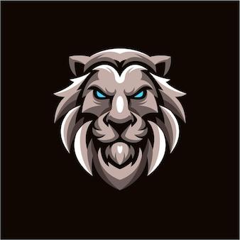 ライオンのマスコットのロゴデザイン