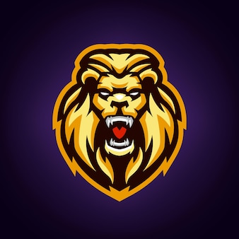 Lion mascot logo template