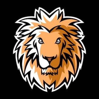 사자 마스코트 로고
