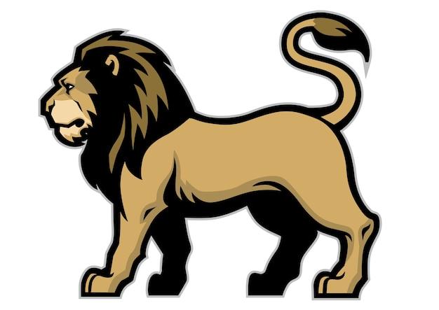 Lion mascot stance