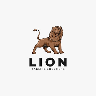Lion pose illustration  logo