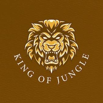 Tシャツデザインのライオンレトイラスト