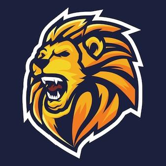 Lion roar esport logo illustration