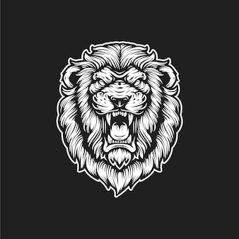 Lion roaring logo