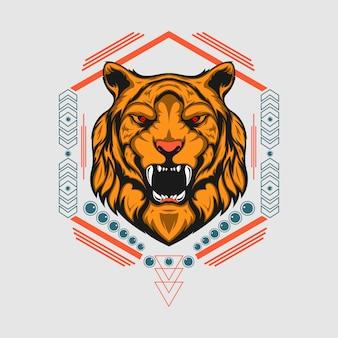 ライオン奇妙な幾何学