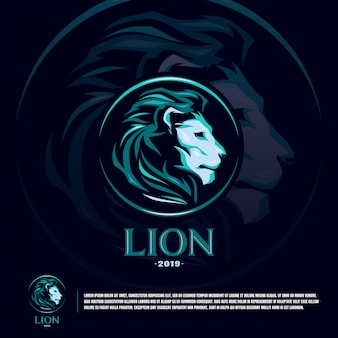 Lion sport team logo template