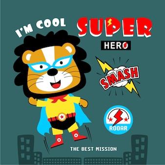 Lion the superhero